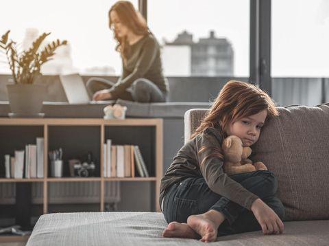 Ilustrasi anak-anak juga rentan alami stres