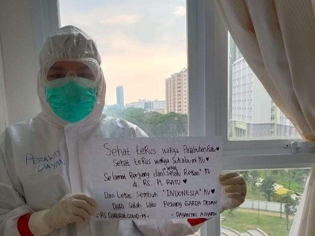 Kisah Perawat Sukabumi di Wisma Atlet, Menahan Rindu Demi Lawan Corona