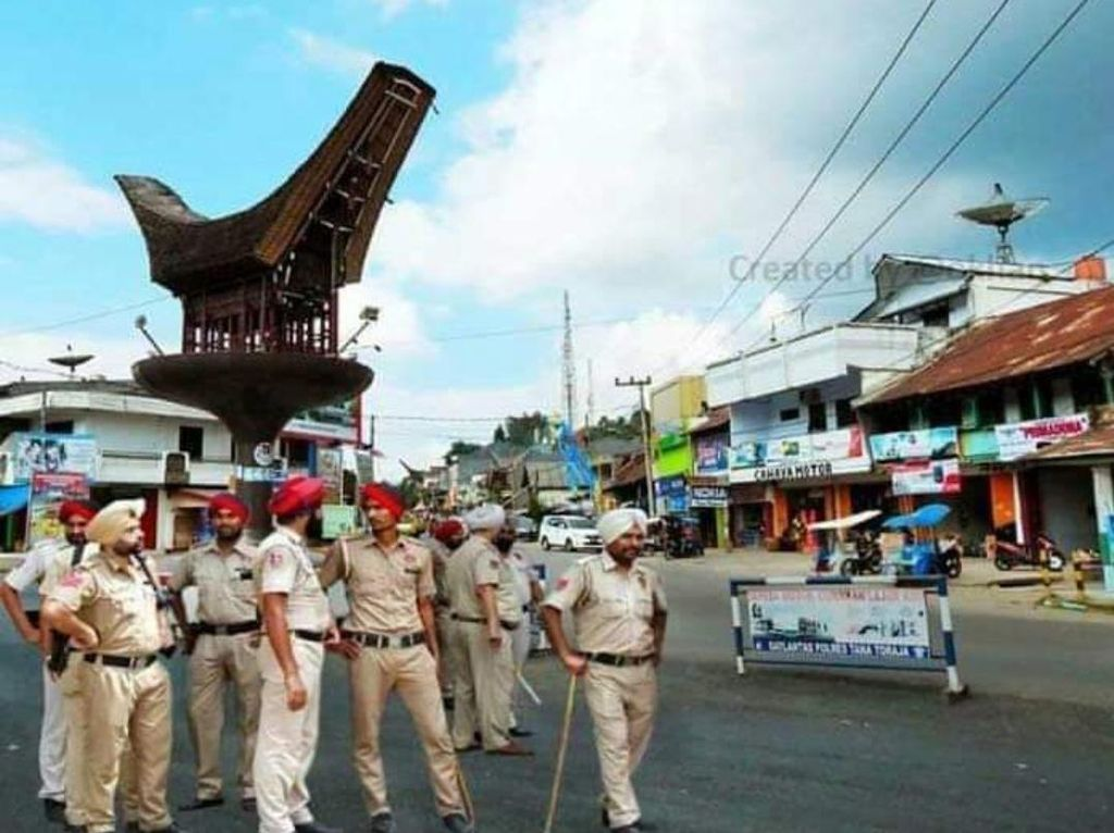 Kocak! Warga Sulsel Bandel di Masa Pandemi Corona, Beredar Meme Polisi India