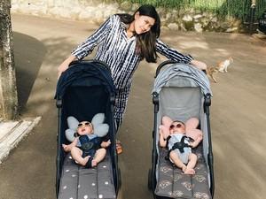 Syahnaz Sadiqah Rayakan Ulang Tahun si Kembar Tak Ramai-ramai