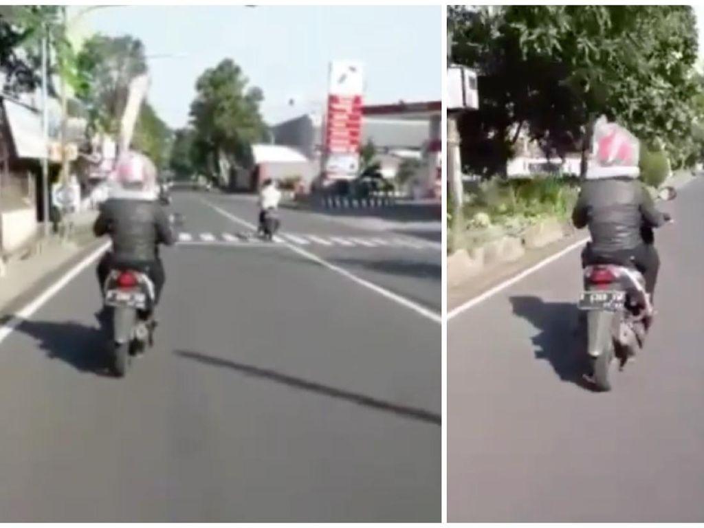 Viral Video Pengendara Motor Pakai Plastik Menutupi Kepala Cegah Corona