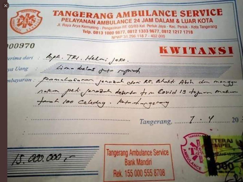 Viral Pemakaman Pasien COVID-19 Bayar Rp 15 Juta, Ini Kata Pemkot Tangerang