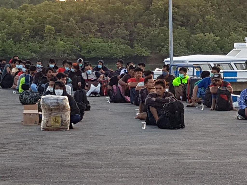47 TKI Ilegal di Malaysia Pulang ke Indonesia Lewat Jalur Tikus Batam