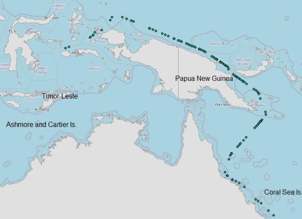 Ruta kapal pesiar yang sempat gegerkan warga Raja Ampat (lapan.go.id)