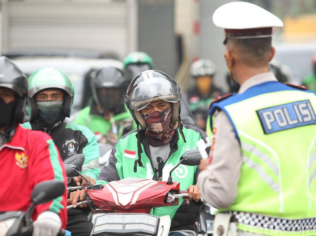 Sanksi dan Jenis Pelanggaran Pemotor Selama PSBB Jakarta