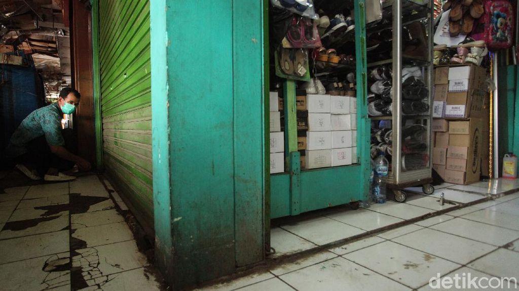 Pedagang Pasar Tambun Ikut Terdampak PSBB di Bekasi