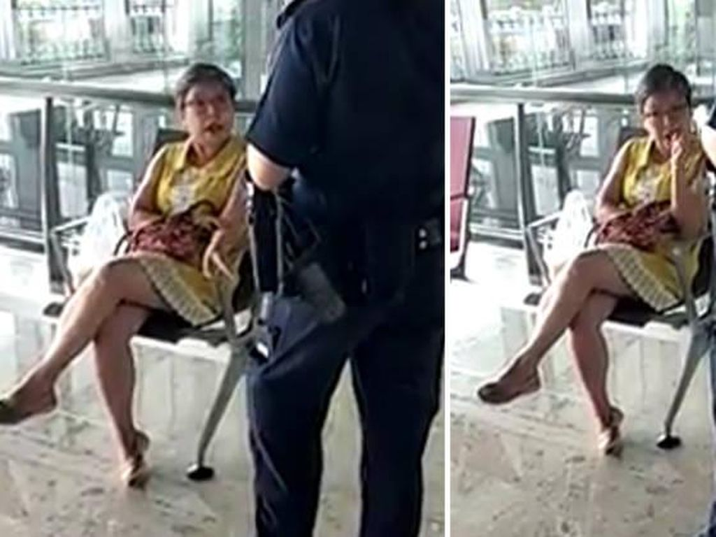 Diingatkan karena Santuy Makan di Bandara Changi, Wanita Ini Malah Ngamuk