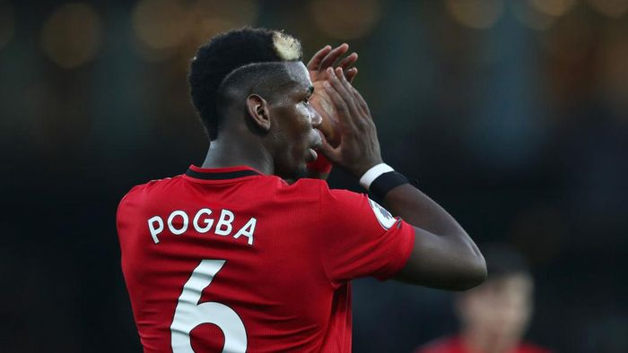 WATFORD, ENGLAND - DECEMBER 22: Paul Pogba of Manchester United applauds fans following his teams defeat in the Premier League match between Watford FC and Manchester United at Vicarage Road on December 22, 2019 in Watford, United Kingdom. (Photo by Dan Istitene/Getty Images)