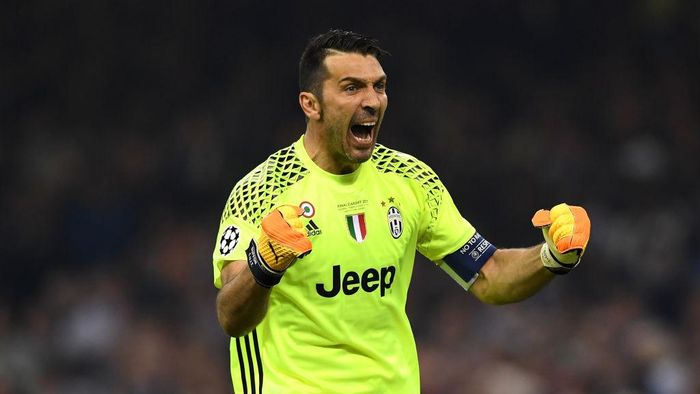 CARDIFF, WALES - JUNE 03:  Gianluigi Buffon of Juventus celebrates his sides first goal  during the UEFA Champions League Final between Juventus and Real Madrid at National Stadium of Wales on June 3, 2017 in Cardiff, Wales.  (Photo by Shaun Botterill/Getty Images)