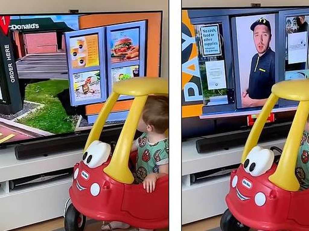 Rayakan Ultah Anak, Pria Ini Bikin Drive Thru ala Resto Fast Food!