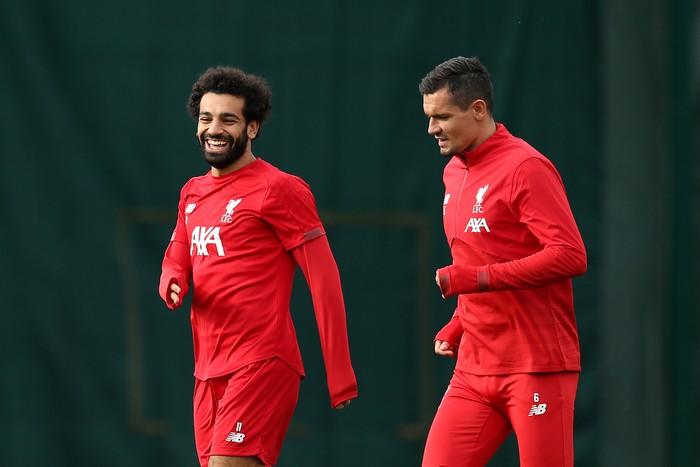 Mohamed Salah dan Dejan Lovren