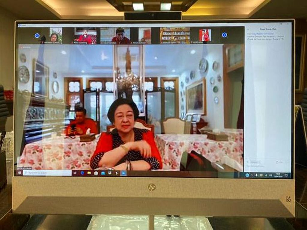 Ini Isi Video Conference Megawati-Elite PDIP soal Penanggulangan Corona