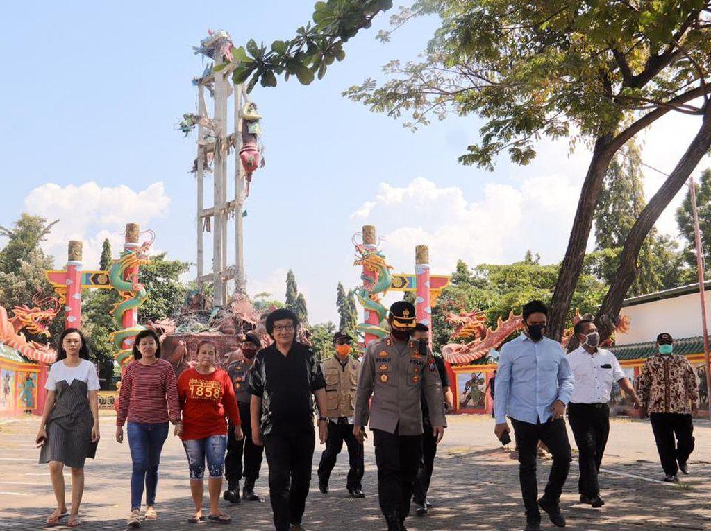 Penyebab Runtuhnya Patung Dewa Setinggi 30 Meter di Tuban Diselidiki
