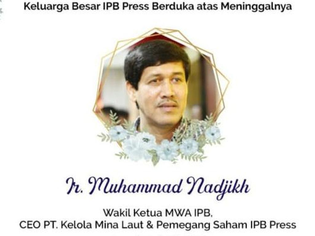 Profil Muhammad Nadjikh, Wakil WMA IPB yang Tutup Usia