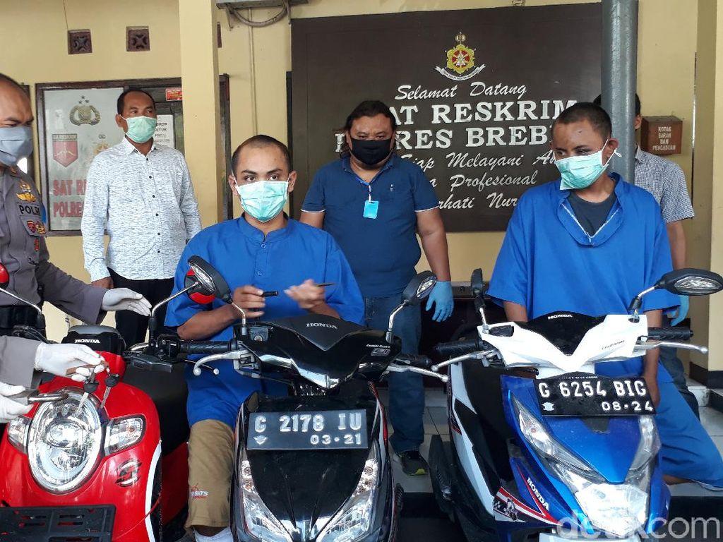 Komplotan Pencuri Motor Lintas Provinsi Dibekuk Warga Brebes