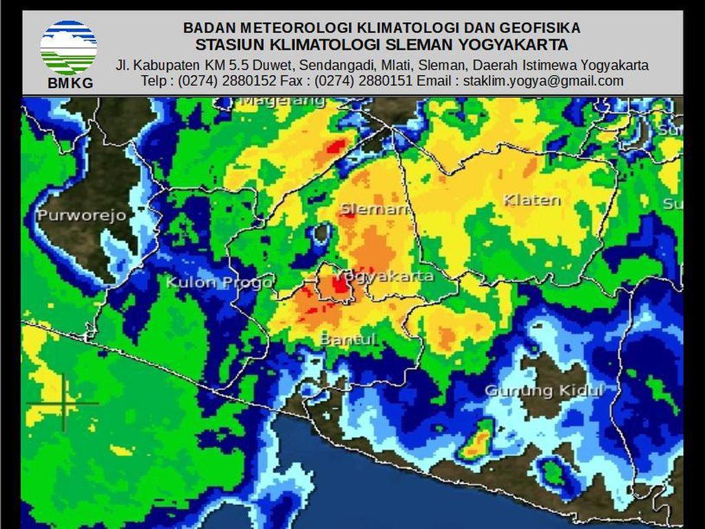Hujan Lebat Guyur Yogyakarta Diperkirakan Hingga Pukul 17.30 WIB