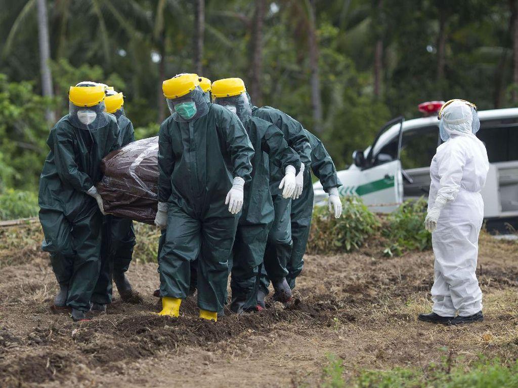 Pemakaman PDP Corona di Sangihe Sulawesi Utara