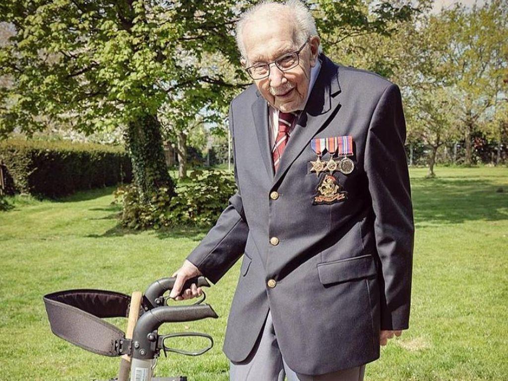 Aksi Donasi Kakek Viral Tom Moore Dipuji Pangeran William