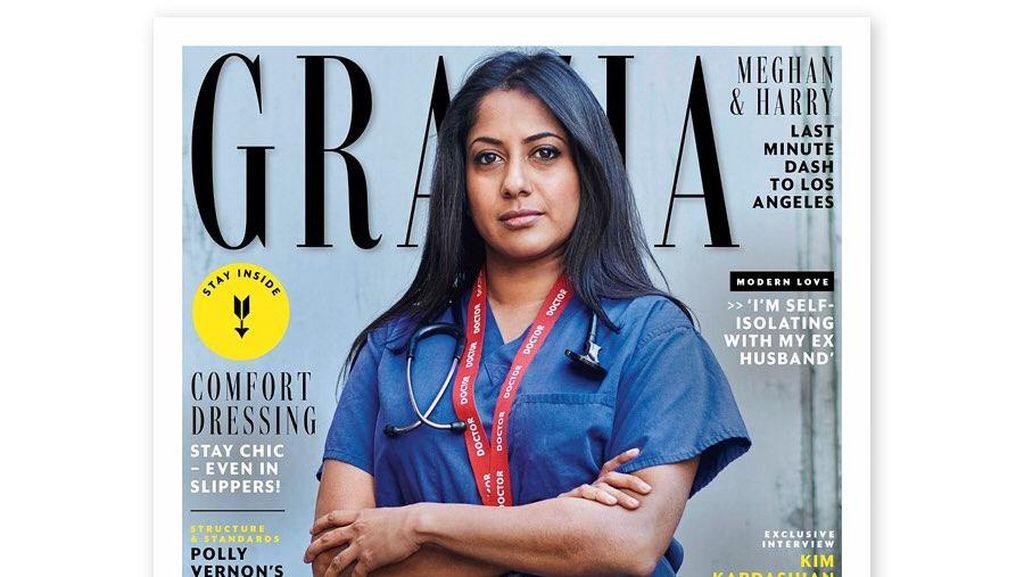 Ketika Dokter dan Perawat Gantikan Model Cantik di Cover Majalah Fashion