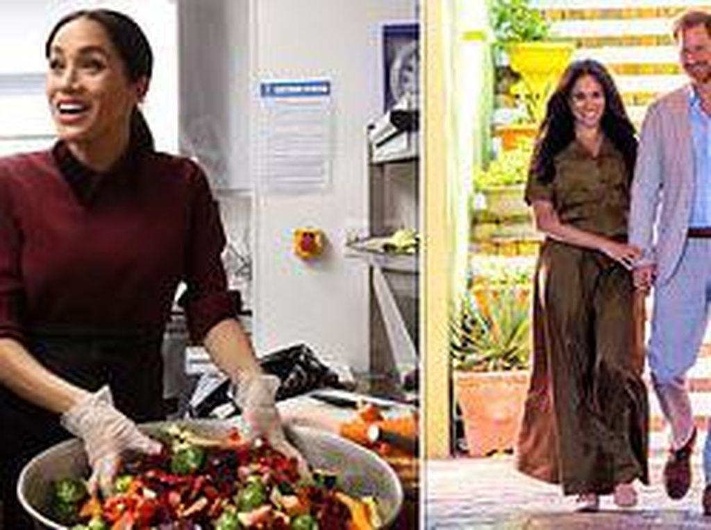 Pangeran Harry dan Meghan Markle Jadi Relawan Bagikan Makanan Gratis