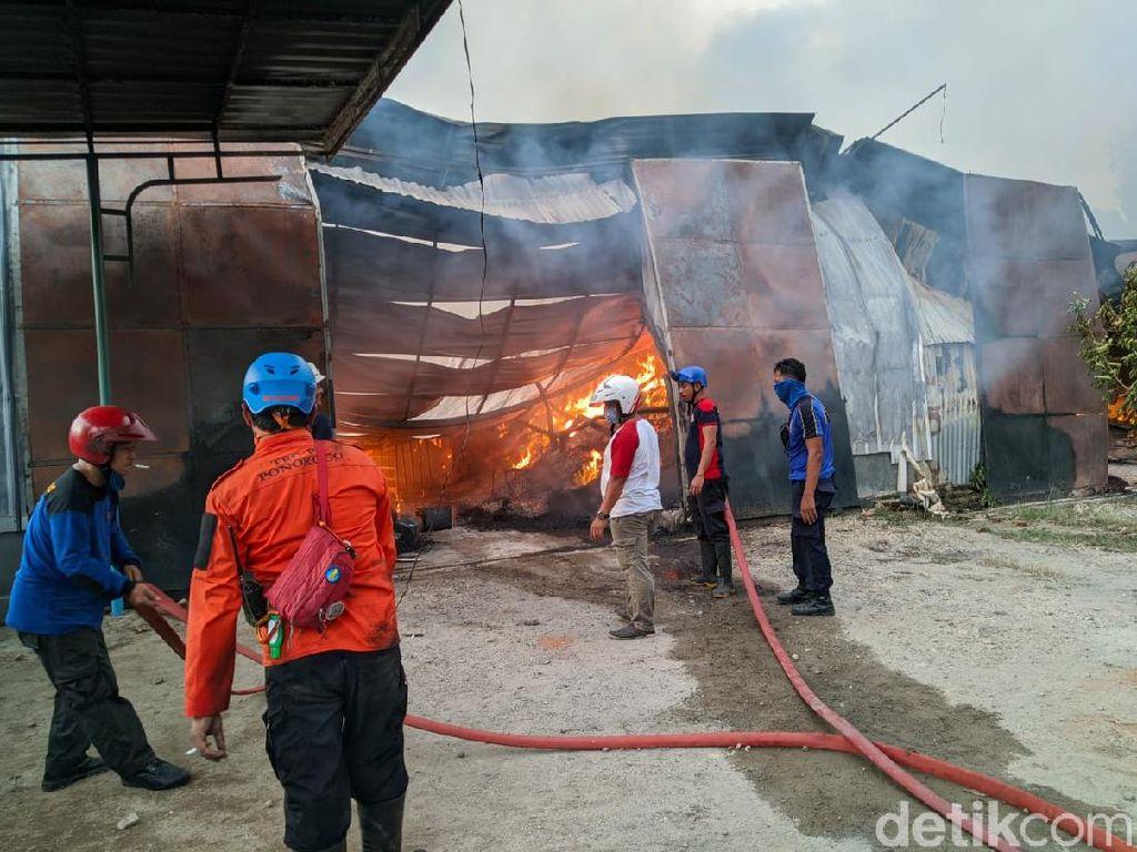 Pabrik Makanan Ringan di Ponorogo Terbakar, Kerugian Rp 3 Miliar