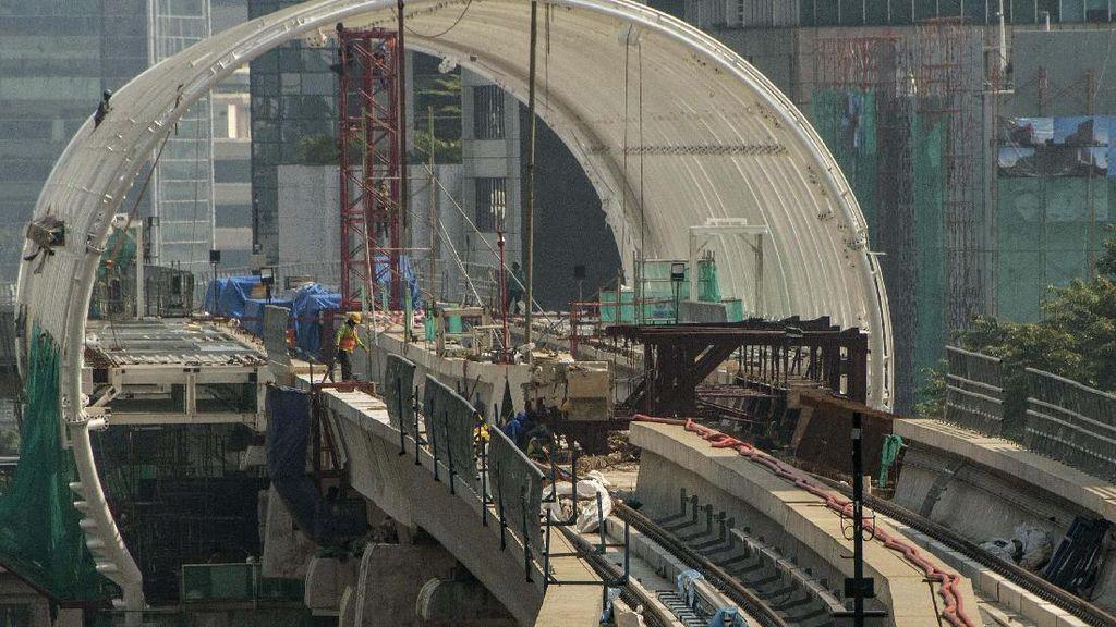 Proyek LRT Jabodebek Jalan Terus di Tengah Pandemi Corona