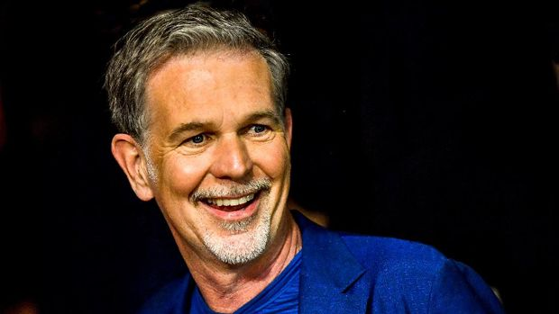 Netflix CEO Reed Hastings is pictured on May 3, 2018 in Lille, northern France during the first edition of the TV Series Mania festival. (Photo by Philippe HUGUEN / AFP)