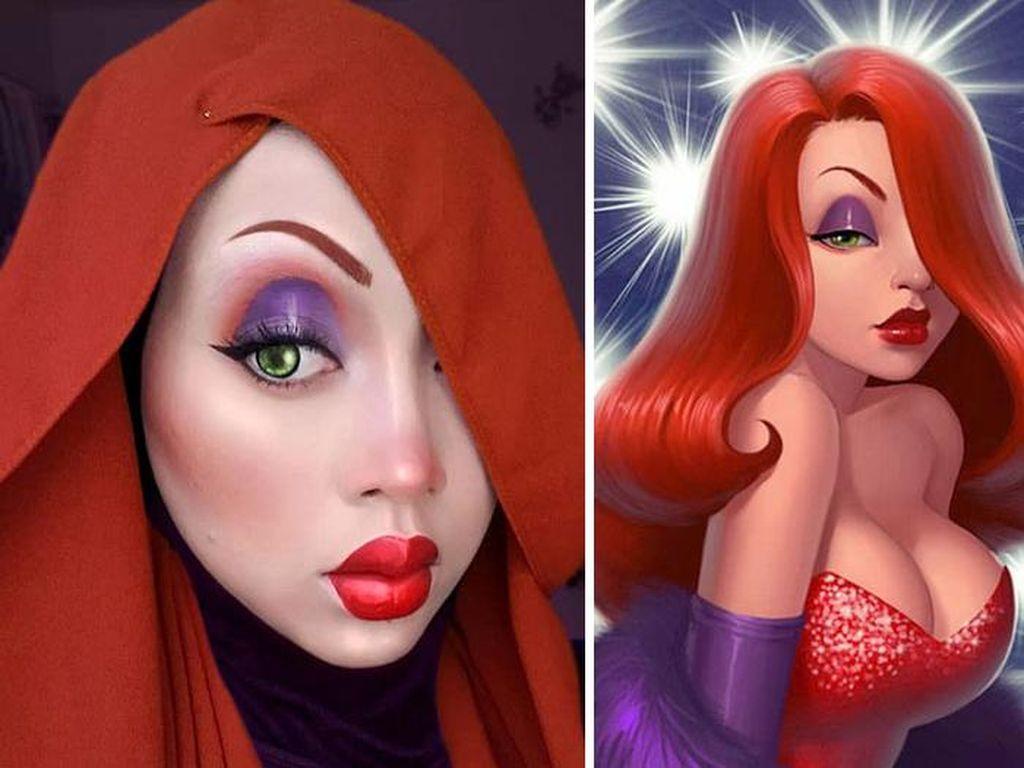 Jago Make Up, Wanita Ini Tiru Tokoh Kartun Dunia