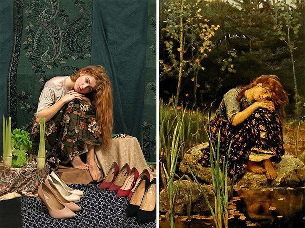 Diisolasi, Warga Rusia Bikin Foto Keren Tiru Lukisan Terkenal
