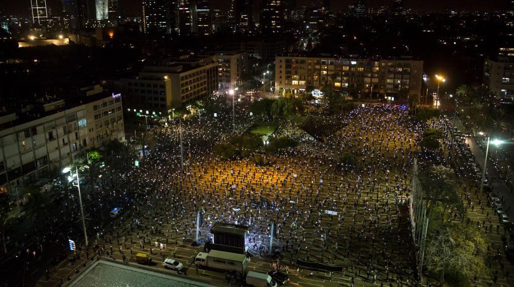 Di Tengah Pandemi Corona, Ribuan Warga Israel Demo PM Netanyahu