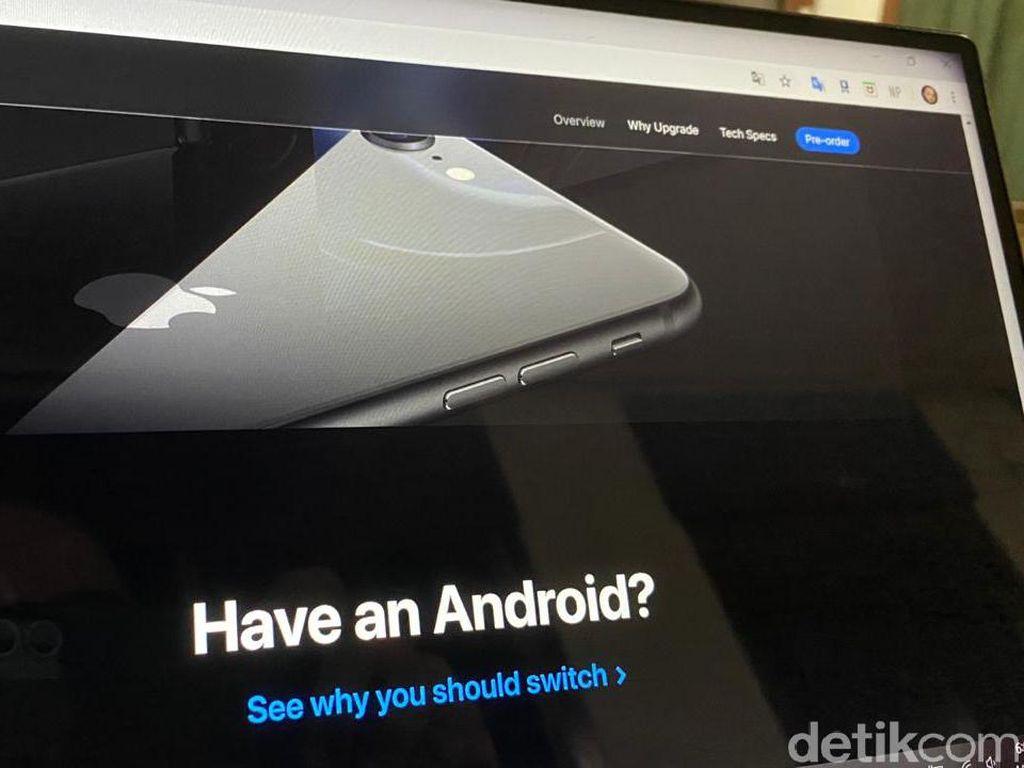 Apple Ajak Pengguna Android Ganti HP ke iPhone SE