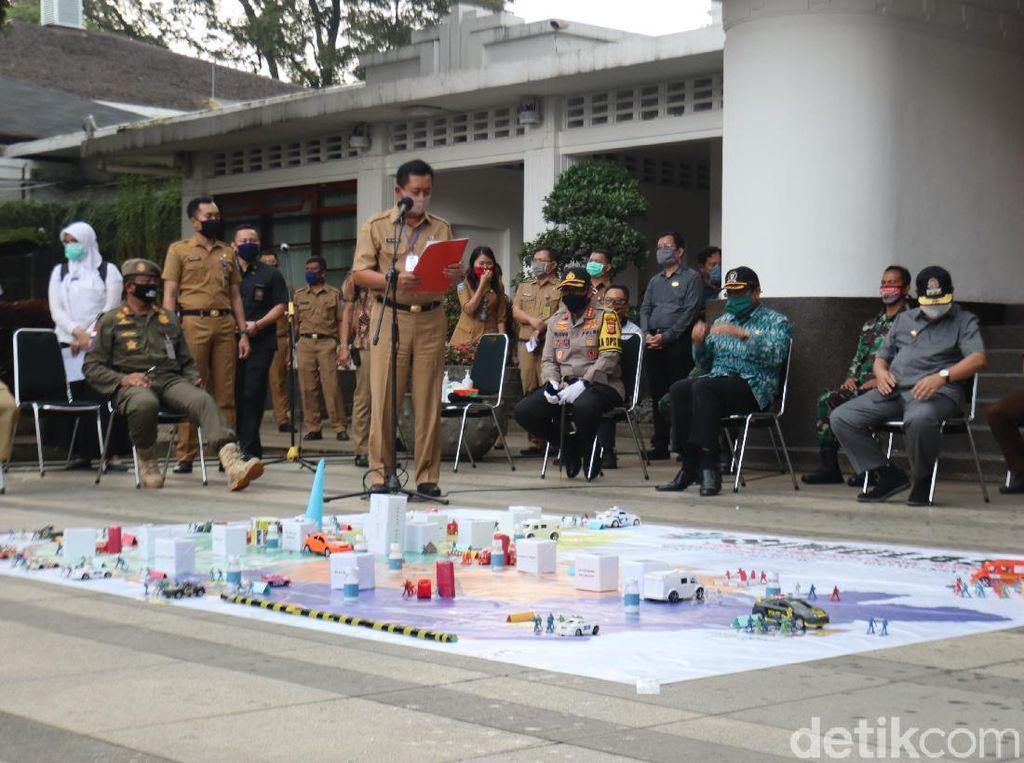 Gelar Simulasi PSBB, Pemkot Bandung Siapkan Sanksi Bagi Pelanggar