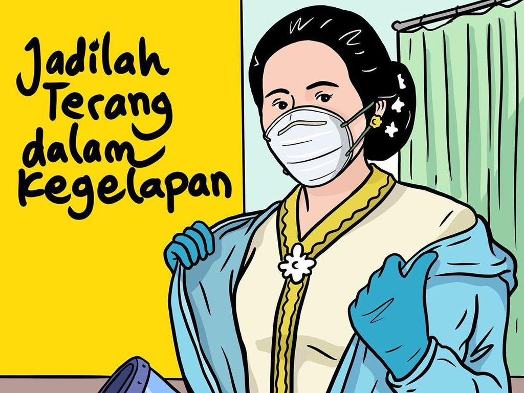 Peringatan 21 April, Kartini Bermasker dan Pakai APD