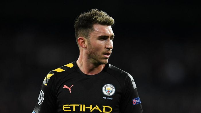 MADRID, SPAIN - FEBRUARY 26: Aymeric Laporte of Manchester City FC during the UEFA Champions League round of 16 first leg match between Real Madrid and Manchester City at Bernabeu on February 26, 2020 in Madrid, Spain. (Photo by David Ramos/Getty Images)