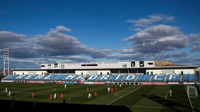MADRID, SPAIN - MARCH 08:  General view of Estadio Alfredo Di Stefano during the UEFA Youth League Quarter Finals match between  Real Madrid CF and SL Benfica on March 8, 2016 in Madrid, Spain.  (Photo by Gonzalo Arroyo Moreno/Getty Images)