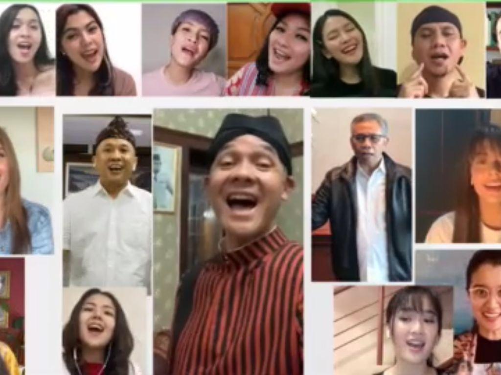 Ganjar Pranowo, Gus Mus hingga Isyana Ramai-ramai Nyanyikan Ulurkan Tangan