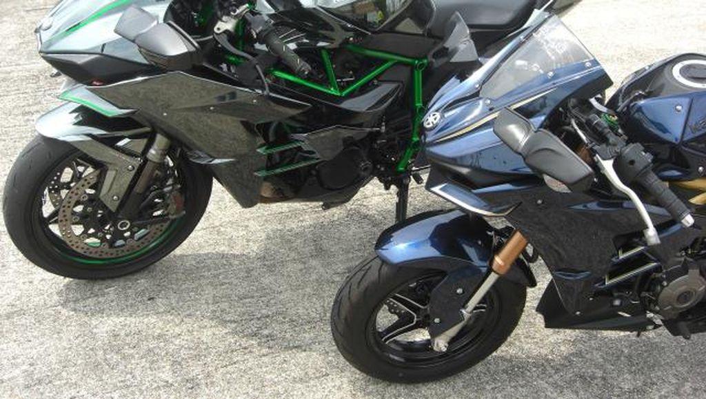 Penampakan Modifikasi Kawasaki Z125 Bertampang Ninja H2