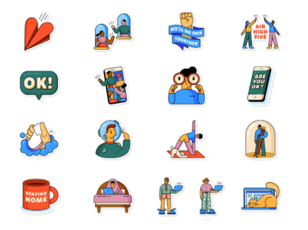 WhatsApp Rilis Seri Stiker Tema Social Distancing