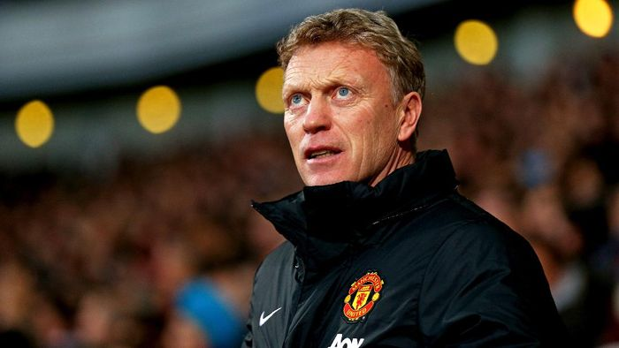 LONDON, ENGLAND - MARCH 22:  David Moyes the Manchester United manager looks on during the Barclays Premier League match between West Ham United and Manchester United at Boleyn Ground on March 22, 2014 in London, England.  (Photo by Paul Gilham/Getty Images)