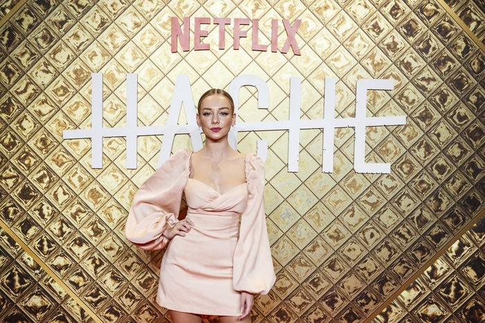 MADRID, SPAIN - OCTOBER 16: Ester Exposito attends Hache premiere by Netflix at Paz Cinema on October 16, 2019 in Madrid, Spain. (Photo by Pablo Cuadra/Getty Images for Netfix)