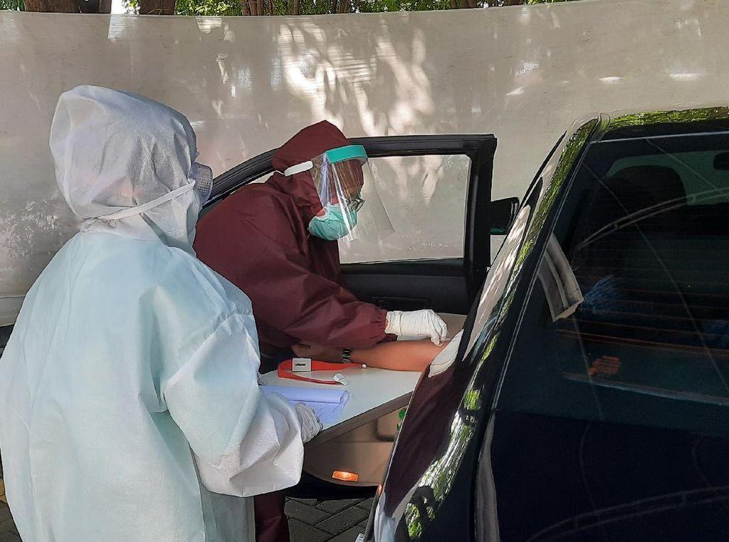 Rapid Test Drive Thru RS Husada Utama Hari Ke-2, Dua Orang Positif