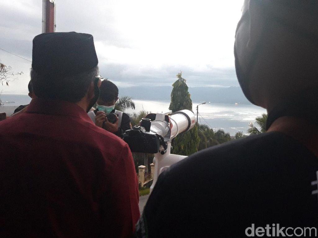 Awan Tebal, HilalAwal Ramadhan Tidak Terlihat di Ambon