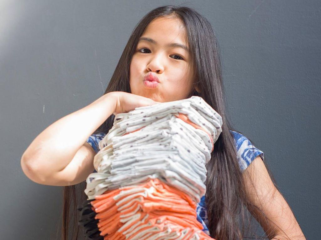 Potret Desainer 12 Tahun Bikin Masker Stylish Gratis untuk Tenaga Medis