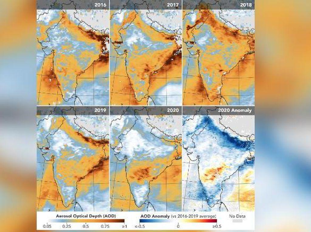 India Kini Capai Titik Terendah Polusi dalam 20 Tahun