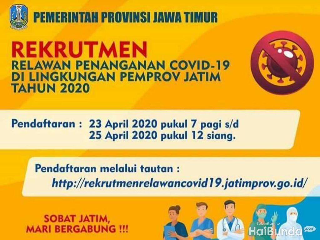 Pemprov Jatim Buka Lowongan 313 Tenaga Kesehatan Tangani Virus Corona