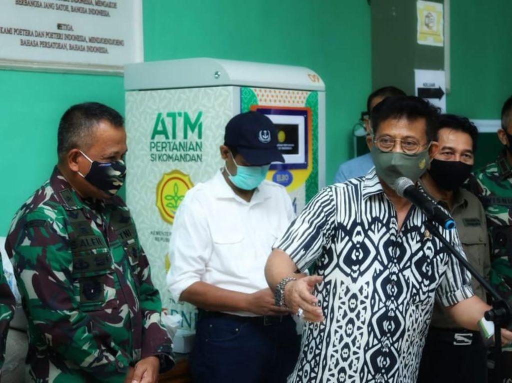Kunjungi Makodim Depok, Mentan Pastikan Program ATM Beras Berjalan
