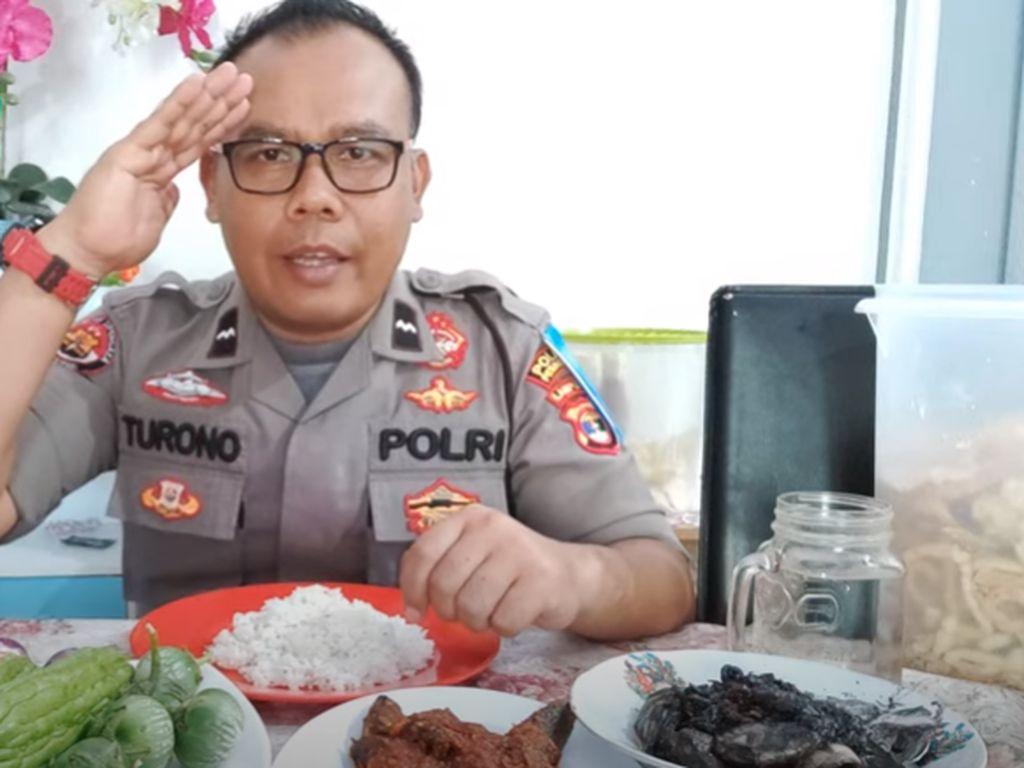 Ini Aipda Turono, Anggota Kepolisian yang Doyan Mukbang