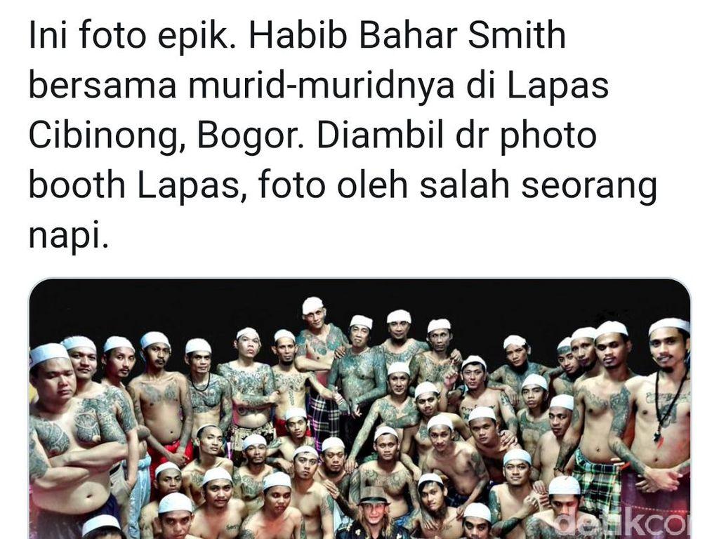 Fadli Zon Unggah Foto Habib Bahar Bareng Napi Bertato, Pengacara: Itu Muridnya