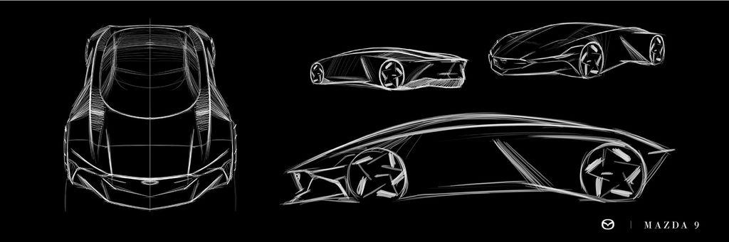 Saat Mazda lahirkan model Mid-engine yang disapa Mazda 9 Super Car.