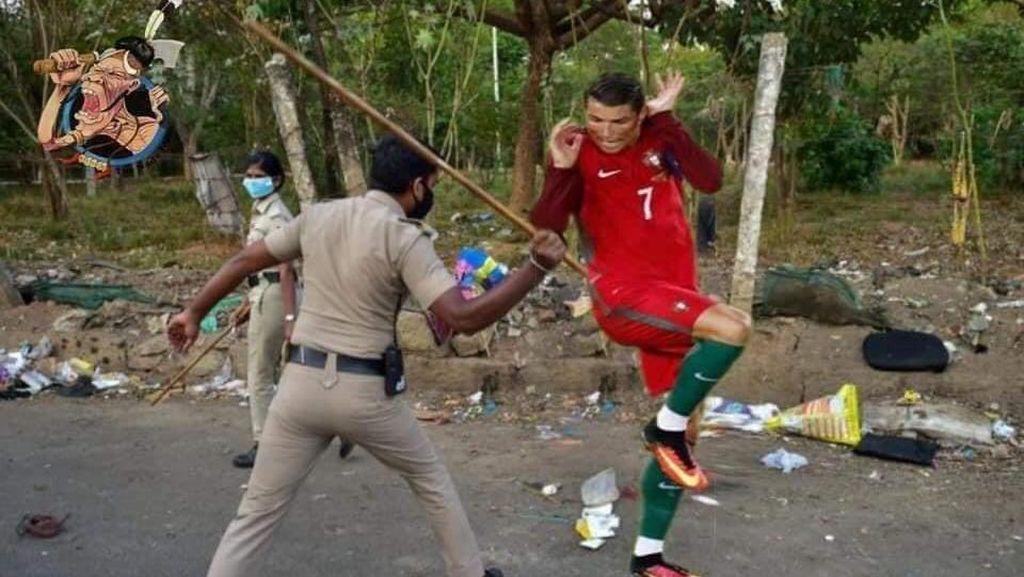 Kocak! Meme Cristiano Ronaldo Disabet Polisi India